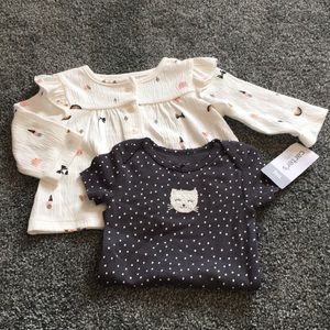 Baby girl bodysuit and top